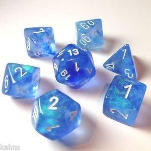 Borealis Sky Blue/White (Polyhedral 7-Die Set)