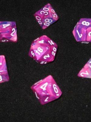 Festive Violet/White (Polyhedral 7-Die Set)