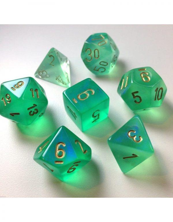 Borealis Light Green/Gold (Polyhedral 7-Die Set)