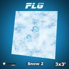 3x3 Snow 2 Mat