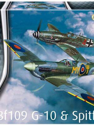 Messerschmitt Bf 109G-10 & Spitfire Mk.V Combat Set