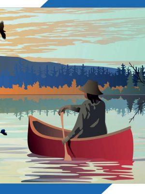 1000 Pc. Puzzle: Lone Canoe