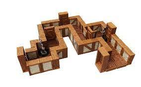 "Warlock Tiles: Town & Villiage- 1"" Straight Walls Expansion"